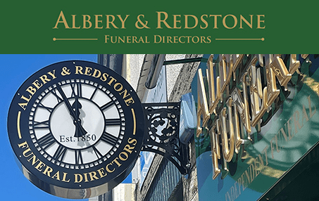 Albery & Redstone - Okehampton Funeral Services Clock