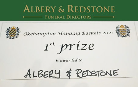 First Prize Okehampton Hanging Baskets 2021